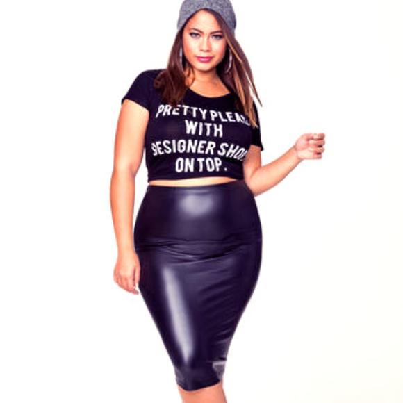 6119a9973cda2 Ashley Stewart Dresses   Skirts - Ashley Stewart Faux Leather Skirt - sz 12